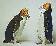 Yellow-eyed penguin model